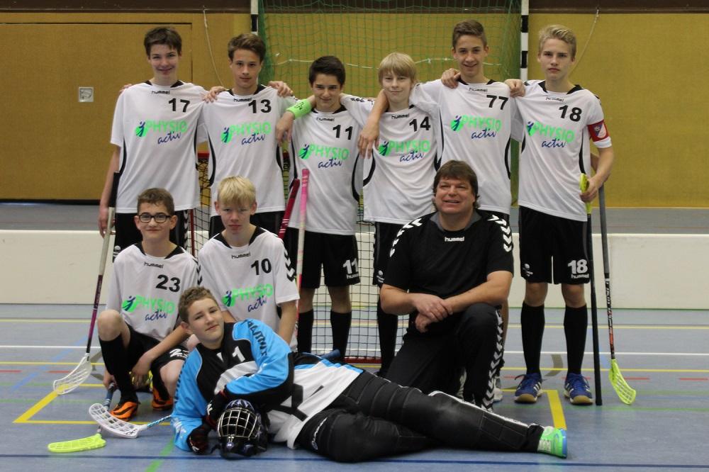 Das U17 Kleinfeldteam der Saison 2014/2015