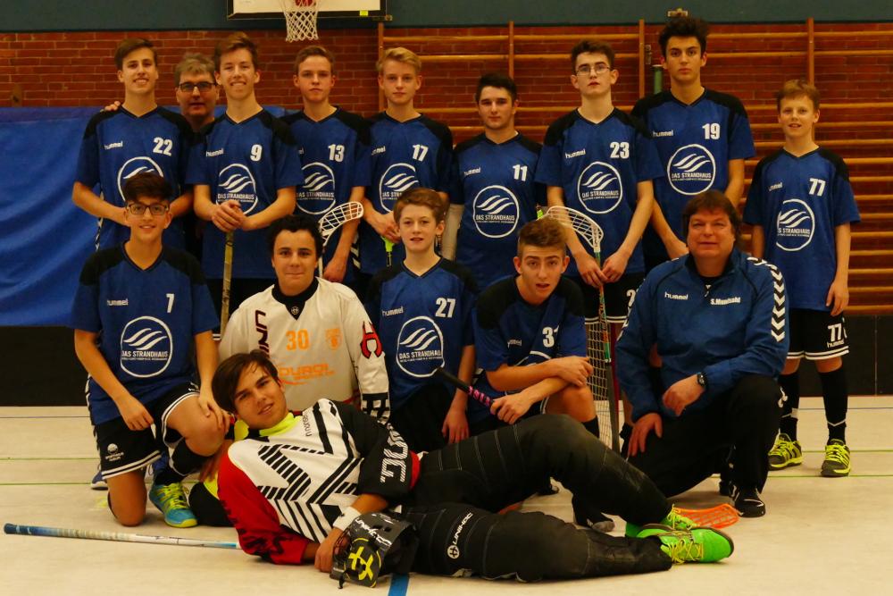 Mannschaftsbild der U17 Großfeld Mannschaft, welche unter dem Namen SG Tetenbüll/Wyk oder Tetenbulls spielt